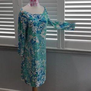 LILLY PULITZER STARFISH SPANDEX RAYON BLEND DRESS